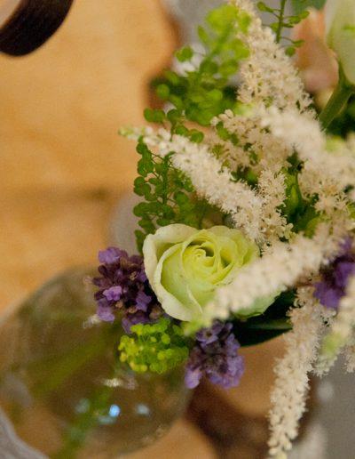 Blumendekoration Hochzeitstafel